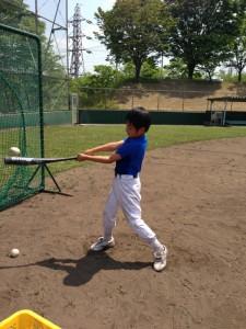 野球教室の打撃練習