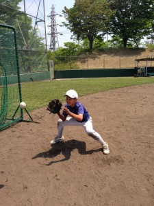 野球教室の守備練習
