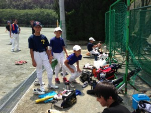 野球教室の練習