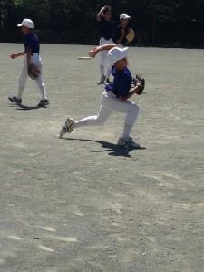 野球教室の強化試合