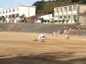 野球教室のピッチング