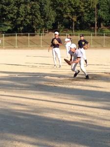 野球教室の守備トレーニング