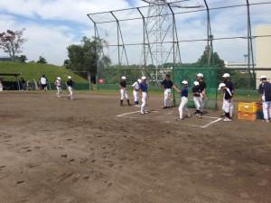 野球教室のピッチング練習
