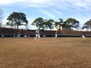 野球教室の基礎練習