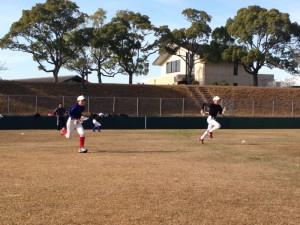 野球教室の走りこみ